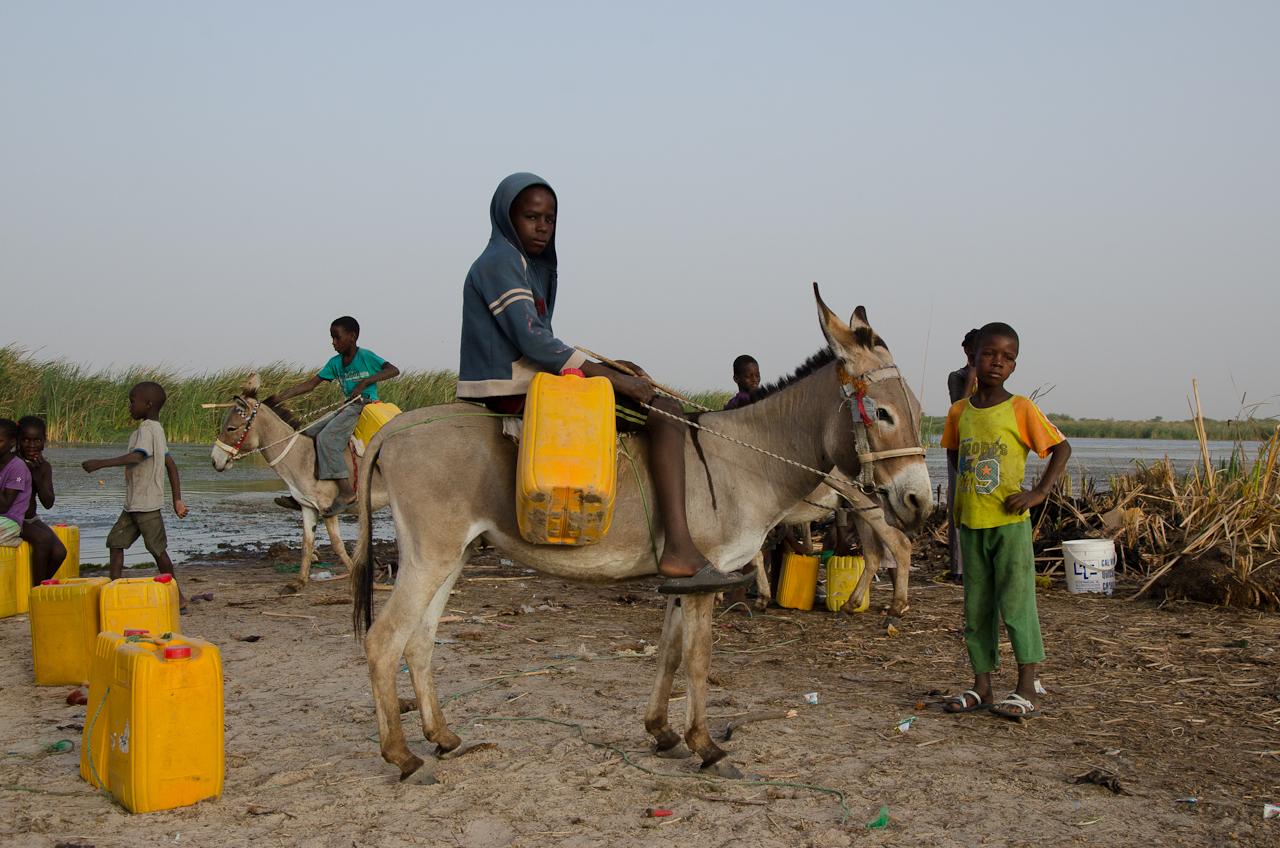 Jusqu'en 2014, les enfants allaient chercher l'eau loin du village dans un bras du fleuve