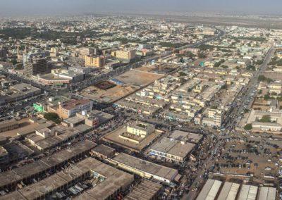 Nouakchott - Marché capital et le boulevard Abdel Nasser