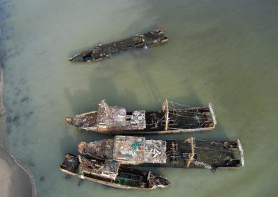 Epaves de chalutiers Russes et Chinois - Nouadhibou-Mauritanie