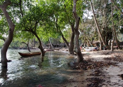 plage de Kamountia-village de Kapkin