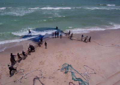 Senne de plage, Nouakchott - Mauritanie