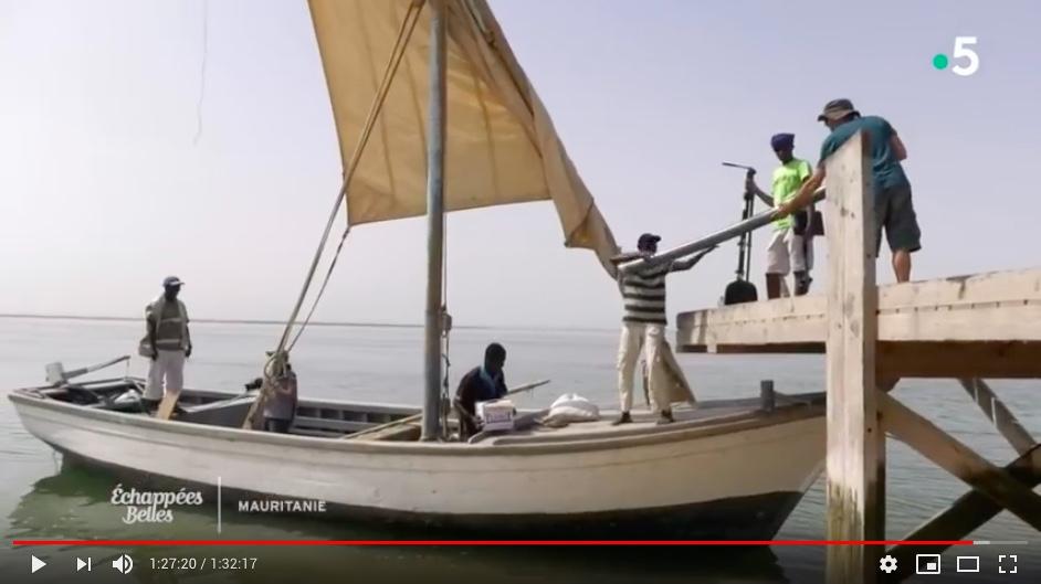 émission Echappée Belle (France 5) en Mauritanie